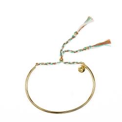Bracelet Tressé - Or & Noisette