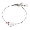 Bracelet Oiseau Argent et rouge - Little Bird d'Emmanuelle Biennassis - Boutique Les inutiles
