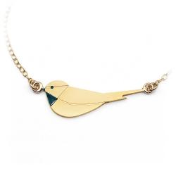 Bracelet Oiseau Doré - Bijoux Graphiques - Collection Little Bird d'Emmanuelle Biennassis - Les inutiles