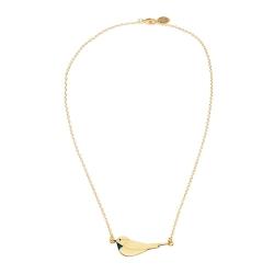 Collier Oiseau Or et Bleu - Pendentif Little Bird Emmanuelle Biennassis - Boutique Les inutiles