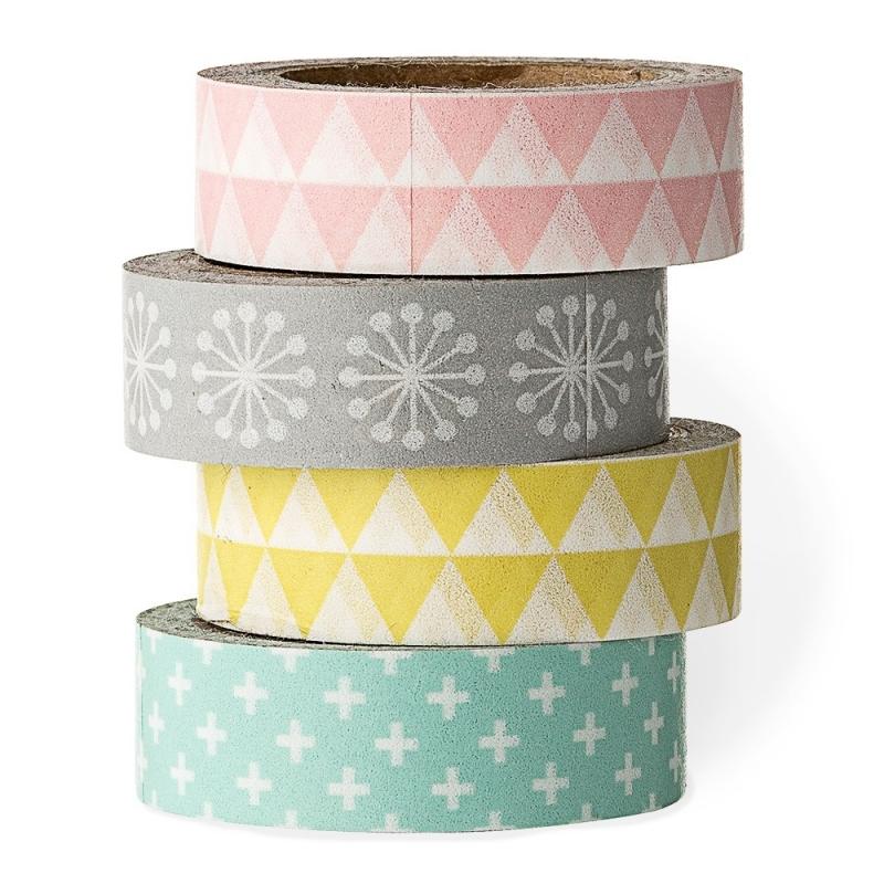 Set de quatre Masking Tape Pastels - Bloomingville - Boutique Les inutiles