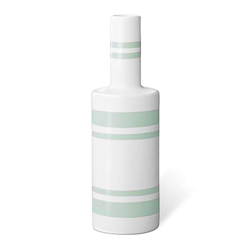 Vase à rayures Vert d'eau - Bloomingville - Boutique Les inutiles