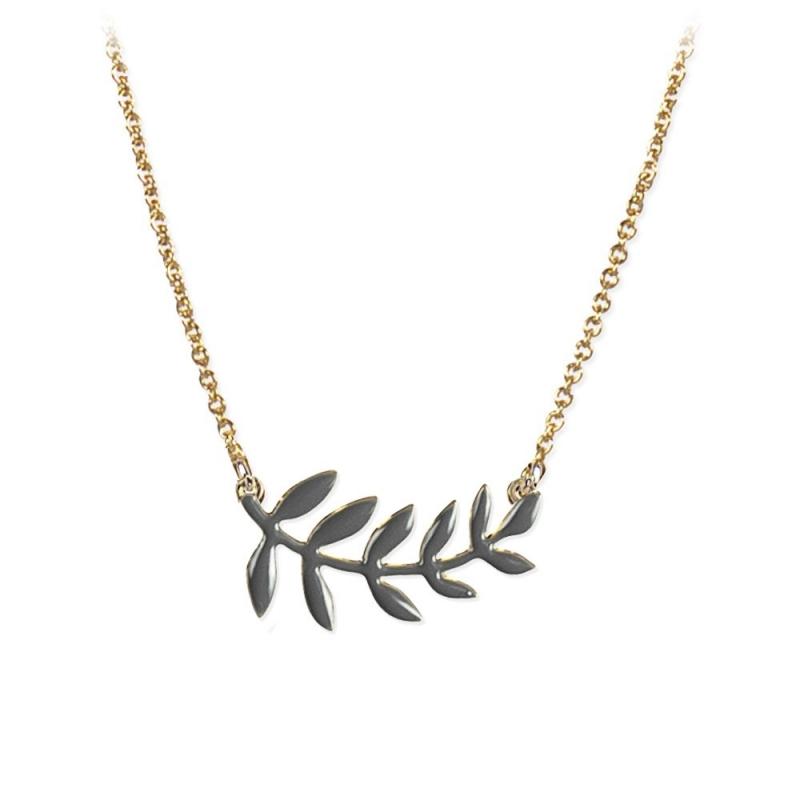 Collier Twig ardoise - slate grey - Lucille Michieli + Titlee - Boutique Les inutiles
