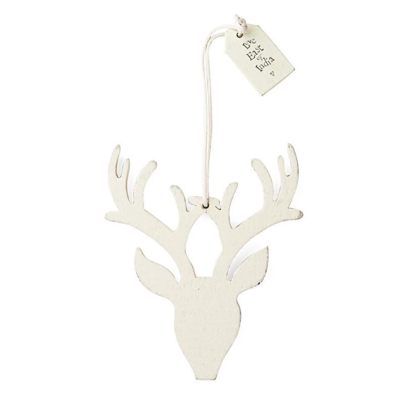 Cerf Blanc - Déco de Noël - East oh India - Boutique Les inutiles
