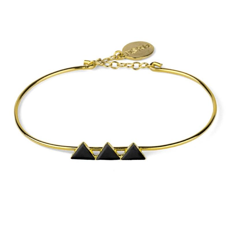 Bracelet Triangles Noir - Nils Avril - Boutique Les inutiles