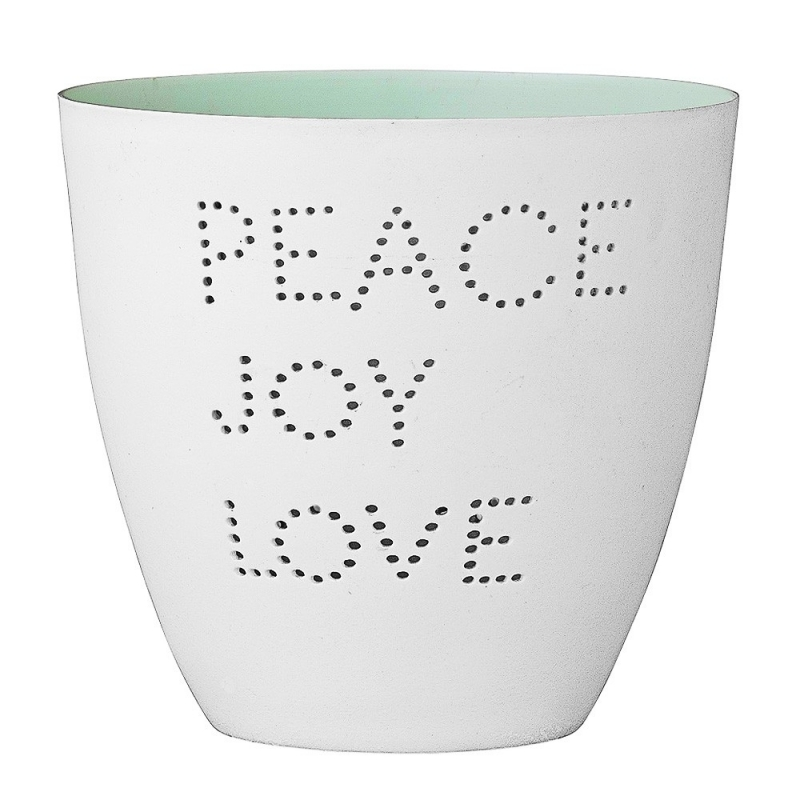Photophore Peace Joy Love - Bloomingville - Boutique Les inutiles