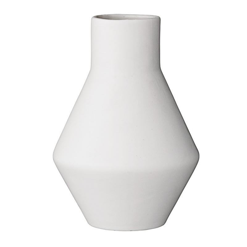 Vase Géométrique Blanc - Bloomingville - Boutique Les inutiles