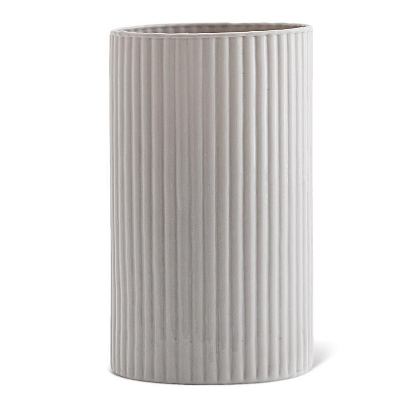 Vase en Opaline Gris Perle - Madam Stoltz - Boutique Les inutiles
