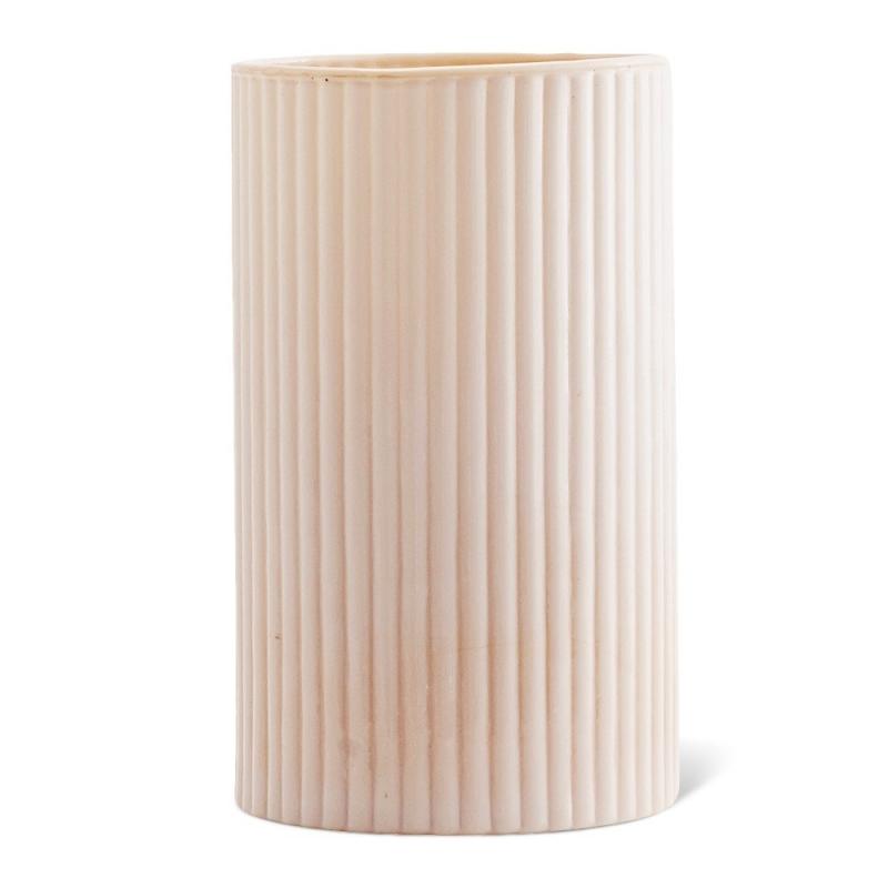 Vase en Opaline Rose Poudré - Madam Stoltz - Boutique Les inutiles