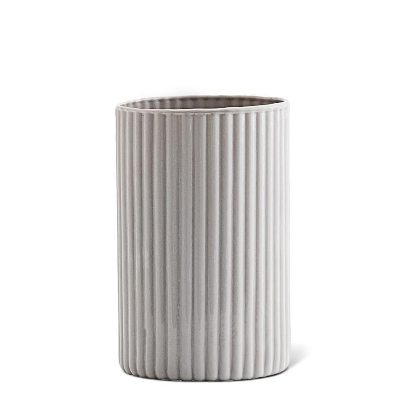 Petit Vase en Opaline Gris Perle - Madam Stoltz - Boutique Les inutiles