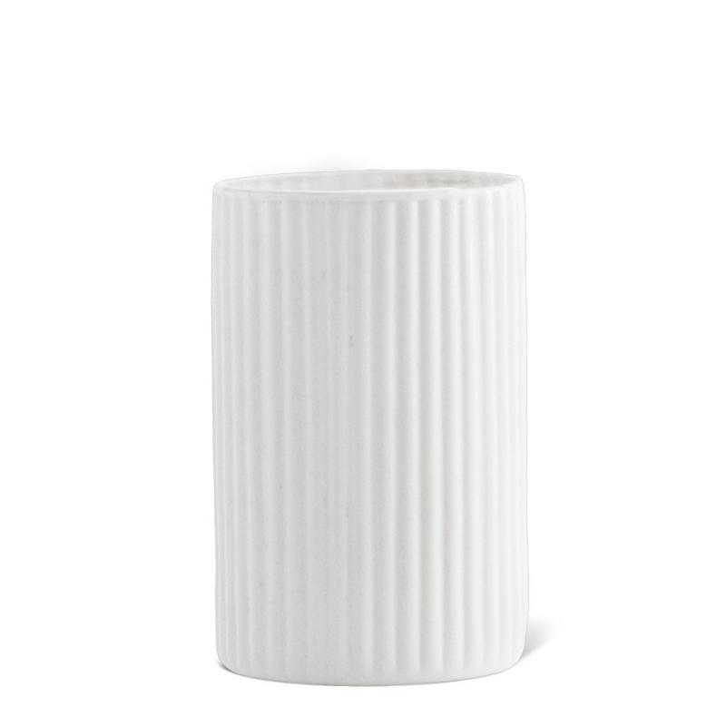Petit Vase en Opaline Blanc Nuage - Madam Stoltz - Boutique Les inutiles