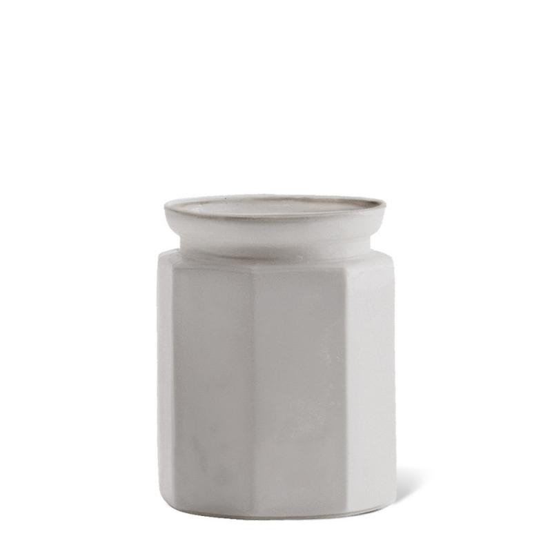 Pot en Opaline Gris Perle - Madam Stoltz - Boutique Les inutiles