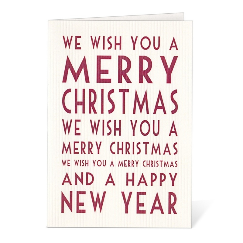 Carte Postale We Wish You A Merry Christmas - East Of India - Boutique Les inutiles