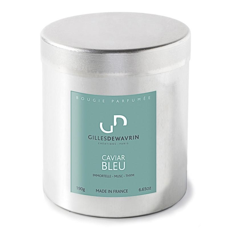 Bougie parfumée Caviar Bleu - Gilles Dewavrin - Boutique Les inutiles