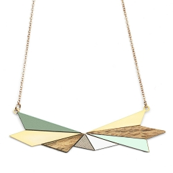 Collier Northern Lights Doré - Ciel & Bois