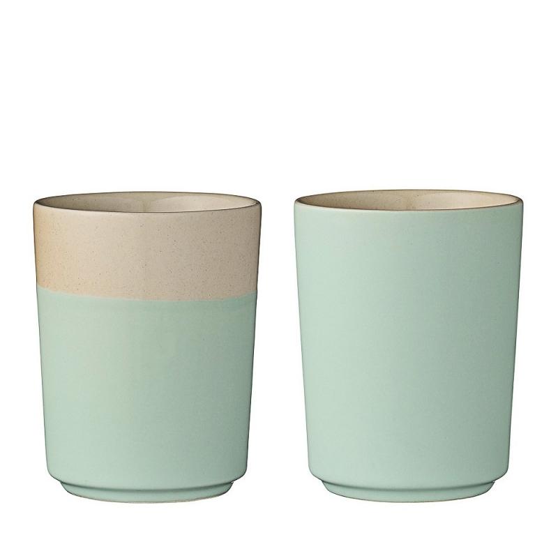Duo de Mugs Vert d'Eau - Bloomingville - Boutique Les inutiles