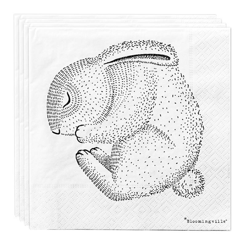 Serviettes en papier Lapin - Bloomingville - Boutique Les inutiles