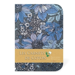 Carnet de Coton - Bleuets