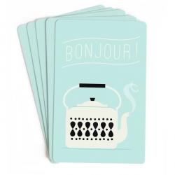 Mini Cartes Bonjour