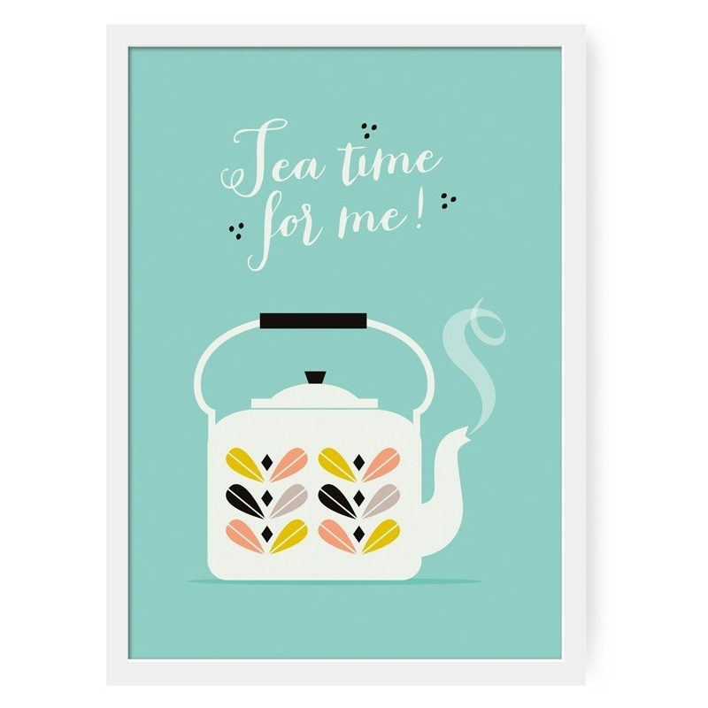 Affiche Tea Time For Me - Illustrée par Zü - Boutique Les inutiles