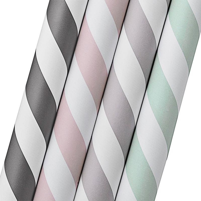 Set de 4 rouleaux de Papier Cadeau à Rayures - Bloomingville - Boutique Les inutiles