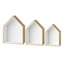 Trio d'Etagères Maisons