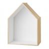 Trio étagères Maison en bois et blanc • house bloomingville • déco rangement cuisine • rangements épurés boutique Lesinutiles.fr