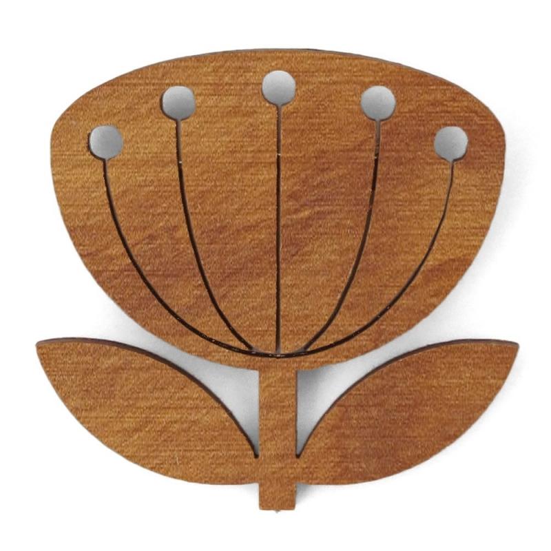 Broche en bois Blowball - Chêne - Snug - Boutique Les inutiles