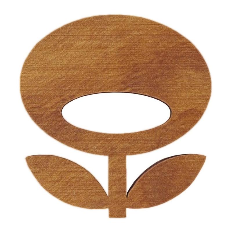 Broche en bois Flower - Chêne - Snug - Boutique Les inutiles