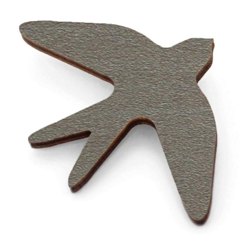 Broche Oiseau en bois - Anthracite - Snug - Boutique Les inutiles