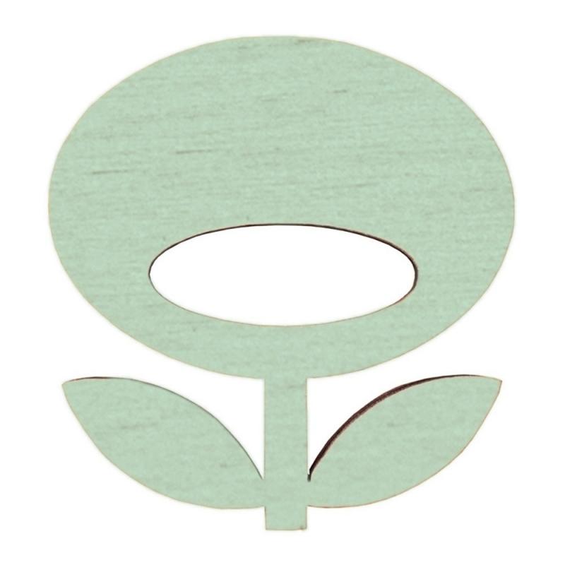 Broche en bois Flower - Amande - Snug - Boutique Les inutiles