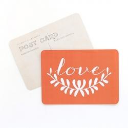 Carte Love - Orange