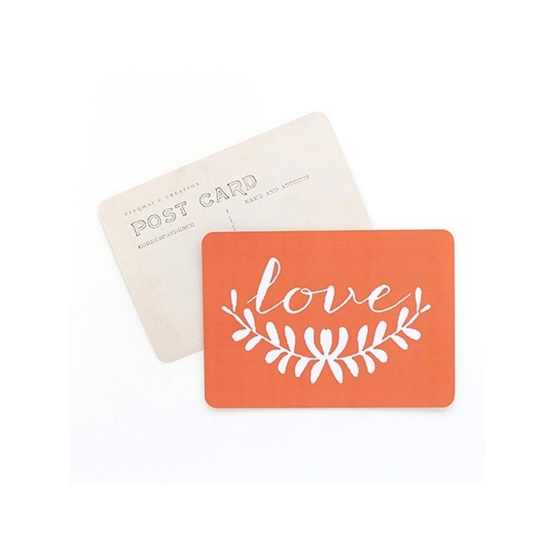 Carte Postale Love - Orange - CINQMAI - Boutique Les inutiles