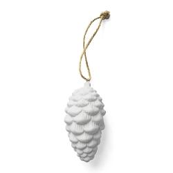 Déco de Noël à suspendre, Pomme de Pin en Porcelaine - Boutique Les inutiles