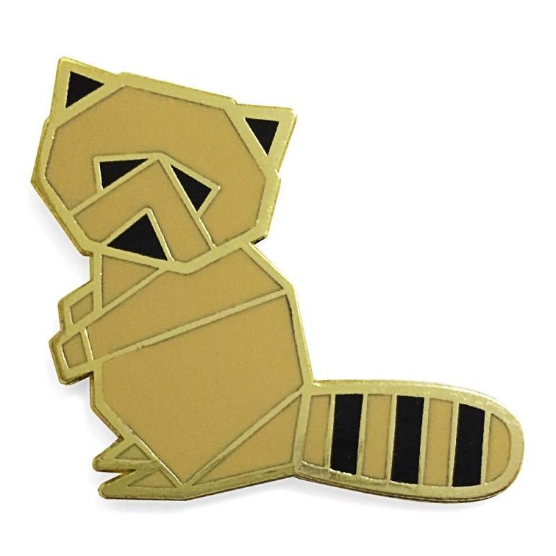 Raton Laveur - Broche Origami Hug A pocupine - Boutique Les inutiles