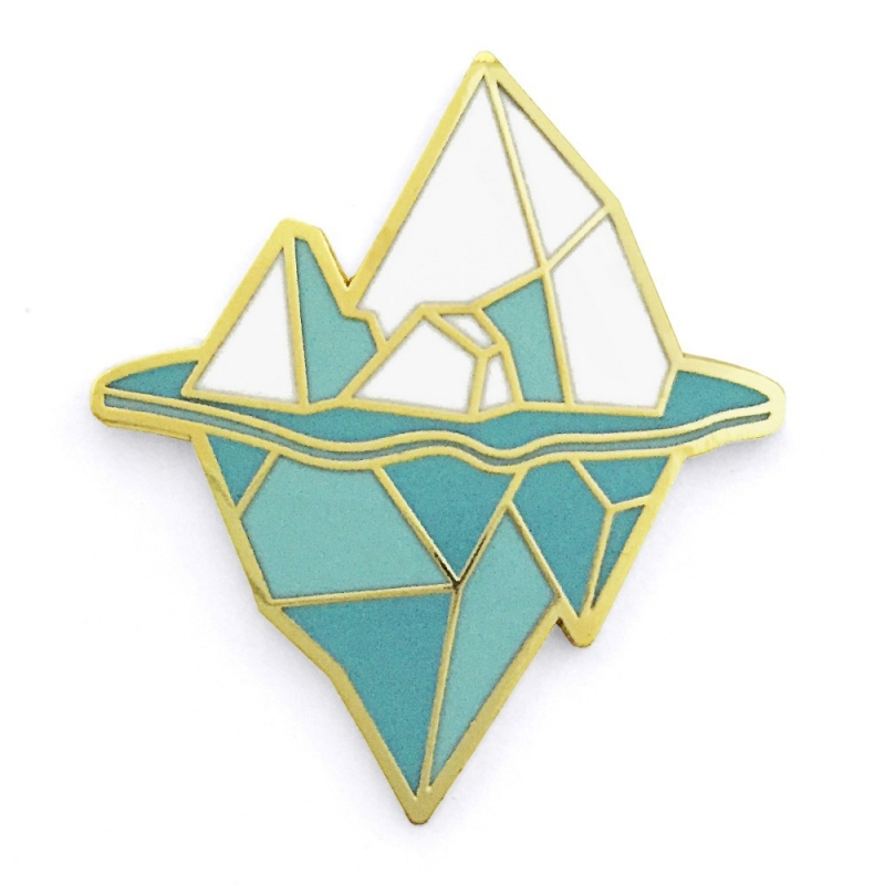 Iceberg - Broche Origami Hug A pocupine - Boutique Les inutiles