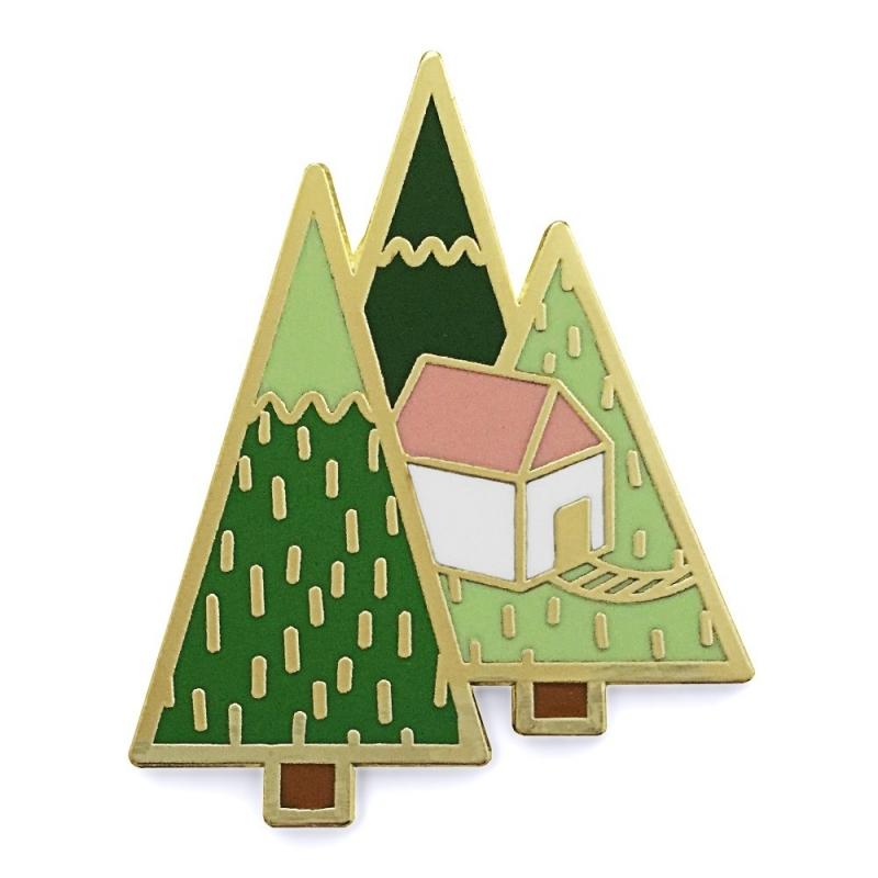 Cabane dans les Pins - Broche Origami Hug A pocupine - Boutique Les inutiles