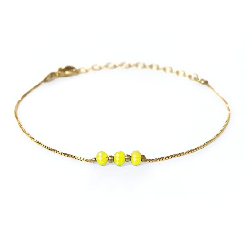 Bracelet doré à l'or fin jaune - Trois Soeurs par My Dearest - Boutique Les inutiles