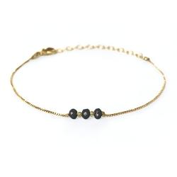 Bracelet Trois Soeurs - Jais