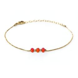 Bracelet Trois Soeurs - Corail