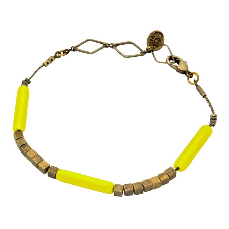Bracelet Tonka Jaune Mimosa - Bijoux Luna Cox - Boutique Les inutiles