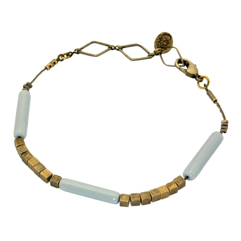 Bracelet Tonka Gris Orage - Bijoux Luna Cox - Boutique Les inutiles