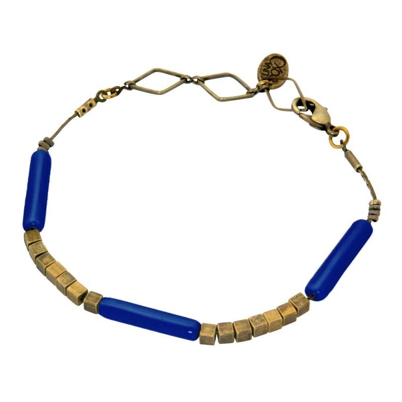Bracelet Tonka Bleu Marine - Bijoux Luna Cox - Boutique Les inutiles
