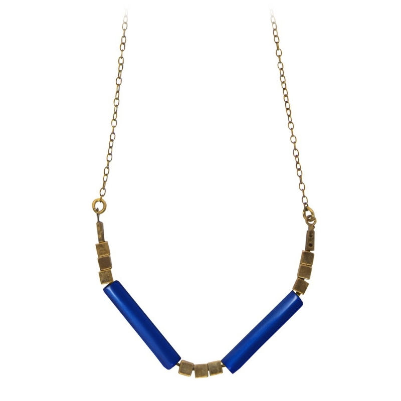 Collier Tonka Bleu Marine - Bijoux Luna Cox - Boutique Les inutiles