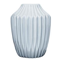 Petit Vase Origami Antique Bleuté