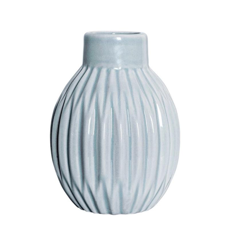 Petit Vase Boule Origami Gris Bleuté - Bloomingville - Boutique Les inutiles