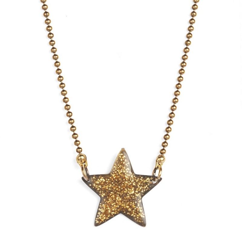 Collier Etoile Emaillée Dorée - Bijoux Puella - Boutique Les inutiles