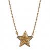 collier étoile à paillettes dorées • pendentif bijoux pour enfants • idée cadeau petite fille • eshop créateur Les inutiles