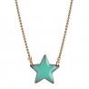 Collier étoile Mint chaîne boule en laiton • Bijoux fantaisie de créateur • pendentif pour enfant bleu turquoise . Les inutiles