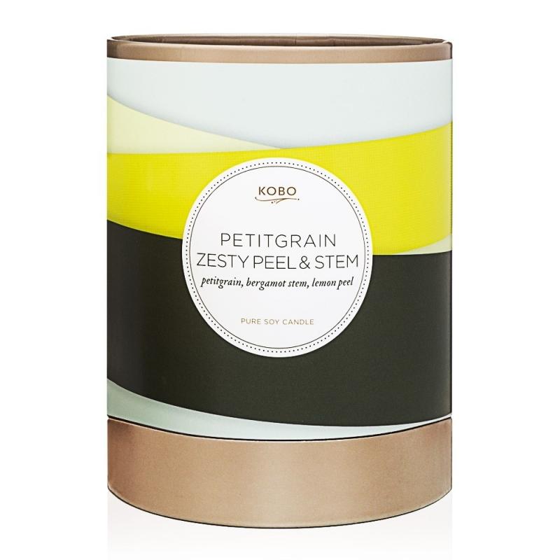 Bougie parfumée Petitgrain Zesty Peel & Stem - KOBO Pure Soy Candles - Collection Ribbon - Boutique Les inutiles